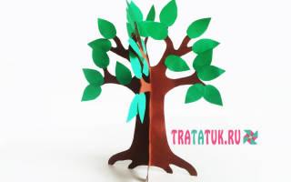 Деревце из бумаги. Объёмное зимнее дерево из бумаги. Шаблоны. Мастер-класс с пошаговым фото
