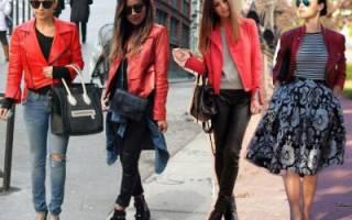 С чем носят длинную зимнюю куртку. Кожа хорошо сочетается с такими материалами, как. Красная куртка. Выбор верха