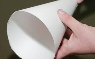 Как сделать конус из картона для елки: пошаговые инструкции с фото. Конус из бумаги