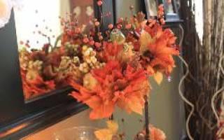 Топиарий из осенних листьев своими руками пошагово. Создание кроны из осенних листьев. Оформление кроны Волшебного осеннего дерева