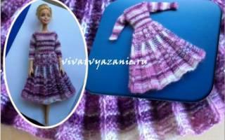 Модное платье для Барби с юбкой плиссе — мастер-класс