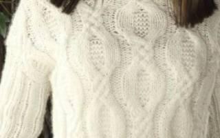 Как связать свитер спицами для начинающих — схемы, пошаговая инструкция. Урок вязание свитера спицами
