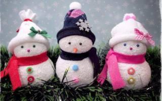 Снеговик почтовик из носка. Как сделать из носка снеговика: пошаговая инструкция