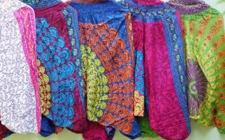 Как сшить штаны для индийского танца. Шьем легко шаровары