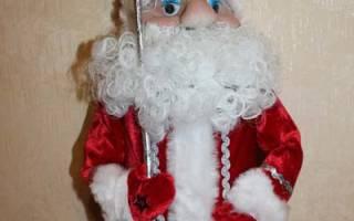 Дед мороз и снегурочка из фанеры. Красивый Дед Мороз своими руками из подручных материалов, ткани, капроновых колготок, пластиковых стаканов и бутылок, пошаговые фото. Изготовление костюма Деда Мороза своими руками. Дед мороз из бумаги