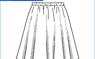 Хб юбка на резинке. Как сшить юбку на резинке для дома. Пышная юбка-полусолнце на резинке