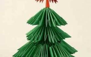 Модульное оригами елочка пошаговая сборка. Модульное оригами елка