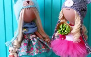 Как самому сделать куклу из ткани. Самые красивые текстильные куклы. Выкройки