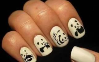 Панды на ногтях маникюр. Как сделать маникюр с пандами и идеи дизайна. С помощью штампа