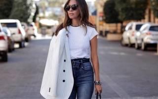 Как носить джинсы с высокой талией. С чем носить джинсы с высокой талией
