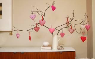 Как лучше провести день влюбленных. Декор ко дню святого Валентина — идеи украшения к празднику своими руками