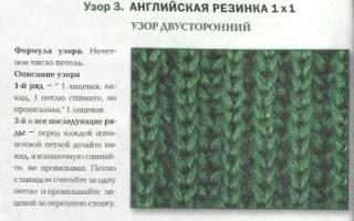 Как вяжется английская резинка. «Английская резинка» спицами: схема вязания