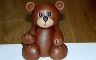 Лепим мишку из пластилина пошагово. Как сделать медведя из пластилина. Материалы для лепки медведя