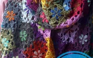 Схемы вязки шарфа крючком. Вяжем элегантный шарф крючком, используя инструкцию с фото и схемами. Шарф–труба для создания стильного образа на каждый день