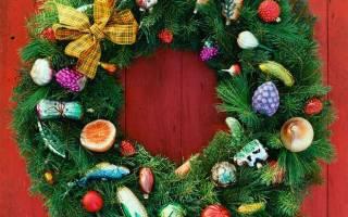 Новогодний венок своими руками на новый год. Оригинальные идеи – нет предела праздничной фантазии. Еловый рождественский венок с шишками