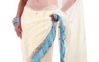 Как правильно надевать индийское сари. Как носить сари: пошаговая инструкция