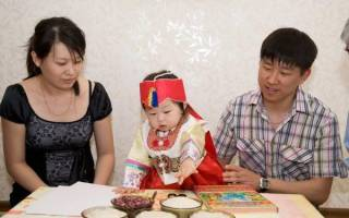 Как корейцы празднуют ясянди — годик ребенку? Корейские традиции: асянди
