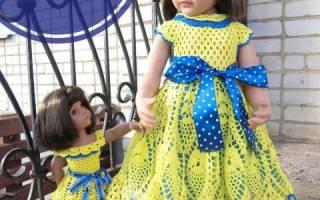 Связать крючком ажурное платье для куклы. Как связать кофту для куклы Барби и Монстер Хай спицами и крючком: схемы с описанием. Вяжем низ платья для куклы
