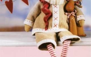 Тильда молодой санта. Санта Клаус Тильда с оленем.Выкройка.мастер класс. Спасибо за внимание
