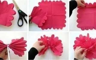Как сделать цветы из салфеток пошаговая инструкция. Необычная ваза с объемным орнаментом. Цветы из конфет и салфеток своими руками