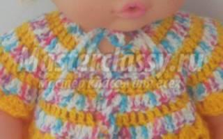 Как связать платье для куклы крючком. Вяжем низ платья для куклы. Одежда для кукол, связанная крючком