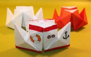 Аппликация кораблик из цветной. Делаем настоящие бумажные кораблики: пошагово с фото