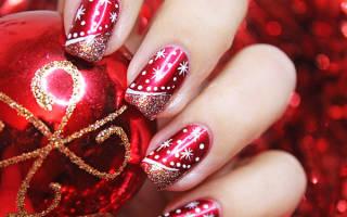 Ногти с новогодней тематикой. Маникюр на Новый год в домашних условиях: ценные подсказки