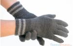 Перчатки мужские вязаные спицами. Вязание перчаток спицами