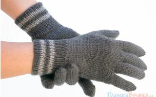 Как правильно рассчитать петли для детской перчатки. Основные этапы работы. Описание вязания длинных перчаток