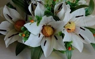 Как сделать объемные лилии. Лилия из бумаги — пошаговое описание как сделать объемный цветок и композицию своими руками (110 фото)