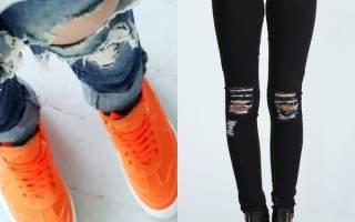 Рваные джинсы с черными нитками. Рваные джинсы: с чем носить. Идеи и фото образов. Длинные и прямые