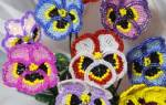 Анютины глазки из бисера: подробное описание плетения петельным, параллельным и французским способом с полезными советами и фото подборкой. Мастер-класс по плетению анютиных глазок из бисера
