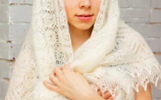 Что такое палантин и как его носить? Отличия между платком, шалью, паутинкой и палантином. О пухе