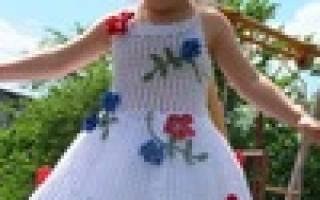 Вязание детского платья крючком на 4 года. Как связать красивое детское платье? Схемы вязаного платья спицами и крючком