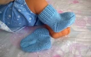 Сколько петель надо на мужские носки. Детские носки на спицах — схемы и мк пошагово