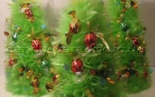 Как сделать новогоднюю композицию из конфет. Подарки из конфет к любому празднику. Идеи с подробными фото