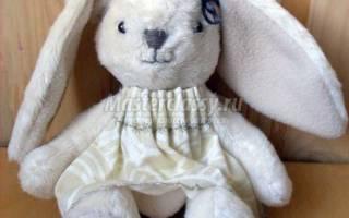 Выкройка игрушки зайка с длинными ушами. Выкройка зайца: подробный мастер-класс по пошиву тедди и тильды. Веселый мишутка из мягкого флиса
