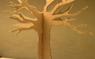 Сделать большое дерево из картона. Объемное дерево из картона своими руками — пошаговое описание, интересные идеи и рекомендации