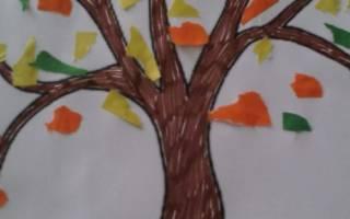 Как сделать рисунок аппликацию золотая осень. Аппликация из цветной бумаги на тему «Осень. Идеи поделок на тему Осень из бумаги и картона