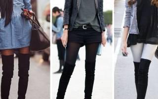 С чем носить ботфорты зимой фото. С чем носить ботфорты разных цветов без каблука