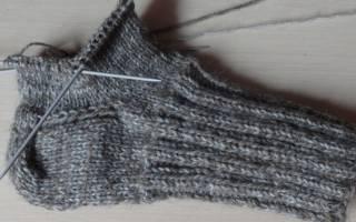 Вязание диагональной пятки носка спицами. Носки спицами схемы с описанием