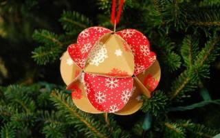 Что сделать бумаги на новый год. Новогодние игрушки из бумаги — яркие идеи своими руками