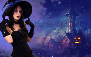 Макияж на хэллоуин ведьмы. Материалы для создания своими руками детского быстрого макияжа к празднованию Хэллоуина. Элегантная темная волшебница
