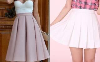 Модные юбки со складками. Юбка в складку – самые интересные модели и с чем их носить? Какой подобрать верх и обувь