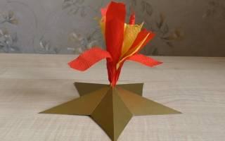 Варианты поделок к 9 мая своими руками. Видео о том, как сделать звезду из бумаги. Идеи о том, как сделать танк из различных материалов