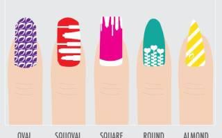 Придаем желаемую форму ногтям. Формы ногтей для маникюра — разновидности, фото, схемы