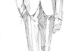 Как сшить мужской пиджак схема. а- меловые линии по низу брюк для манжеты. Скос по линии талии