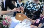 Свадебные традиции: хлеб да соль, водка. Свадебные традиции: встреча с караваем молодых. Речь при встрече молодых с караваем
