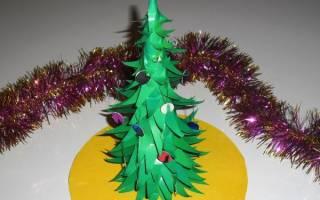 Как сделать пушистую елку из бумаги. Новогодняя ёлка из бумаги. Лучшие идеи и мастер-классы с пошаговыми фото