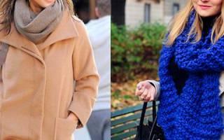 Женские шарфы связаные спицами описание со схемами. Какой шарф подойдет к бежевому пальто